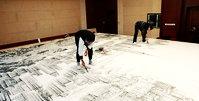 赵俊山创作巨幅城市山水画