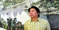 李学亮在滨海新区创作巨幅山水画