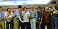刘大为等中国美协领导来津观摩