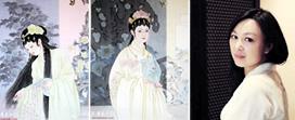 """津门青年女画家于栋华的""""金陵十二钗"""""""