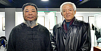 陆福林、张法东师生艺术展开幕