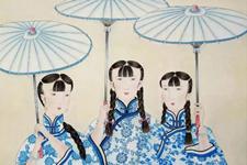 中国画家冯琎:婉约江南