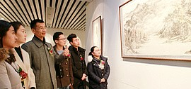 文雅在兹—著名山水画家姜金军中国画作品展在威海美术馆开幕