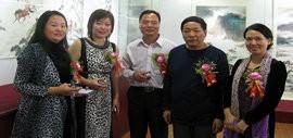 高清图:邢立宏、李澜中国画展在东莞艺展中心展出