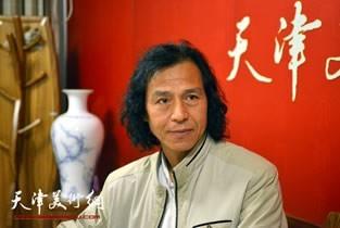视频:著名画家李爱民做客天津美术网