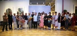 海河清风-何敏杰、焦小红、皮志刚三人作品展在风泉清听艺术馆开幕