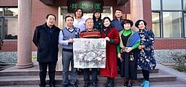 天津运河画院乔迁新址 书画名家开笔致贺