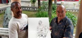 高清图:尹沧海教授率南开大学弟子深入甘肃写生采风