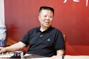 视频:著名画家潘晓鸥做客天津美术网