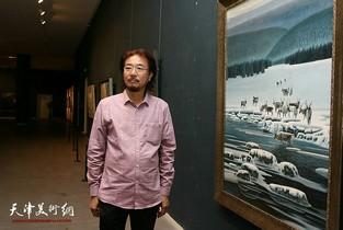 视频:雪国精灵·冯庆冰雪油画展在天津美术馆开幕
