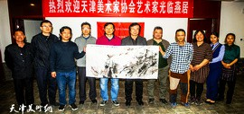 """迎接""""第十三届全国美展"""" 天津市美协组织部分画家深入蓟州采风"""