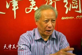 视频:著名书法家郑尔非做客天津美术网