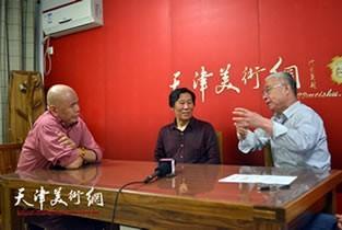 视频:马海方、张鸿飞、苏鸿升做客天津美术网