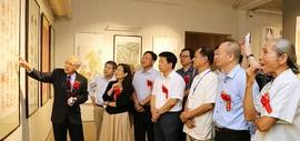 纪念改革开放四十周年-两岸满族同胞书画展在巷肆美术馆开幕