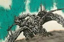 对景写生 问道自然-著名画家柴博森国画作品欣赏