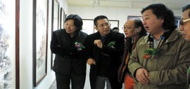 """高清图:""""谦谦峰骨·李毅峰中国画巡回展""""青州站开幕"""