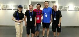 且行——魏瑞江、柴博森、黄辉、肖爱华、阚传好五人作品展在天津图书馆开展