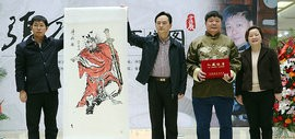 著名作家、书画家张宝瑞《百馗图》画展在中国现代文学馆举行