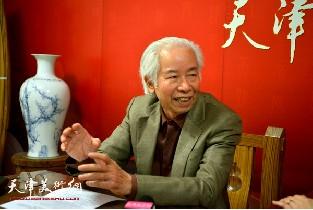 视频:著名艺术家庄征做客天津美术网