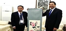著名青年书画家傅刚随中国青年代表团出访印度开展文化交流