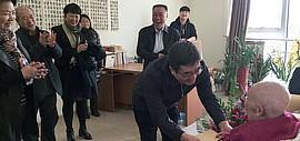 社会各界春节前夕看望百岁老人孙其峰先生 送上己亥新春祝福