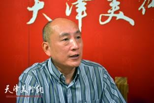 视频:著名书法家许敬做客天津美术网