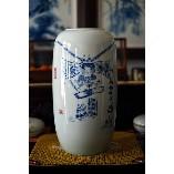 黄雅丽青花冬瓜瓶:《穆桂英小像》