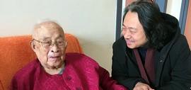 天津画院院长贾广健探望恩师孙其峰先生 送上新春祝福