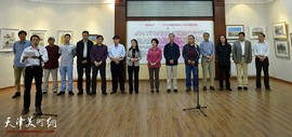 炫彩五月-天津市政协水彩画艺术研究院作品展在津沽书画会开幕