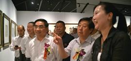 """高清图:""""中国梦·翰墨缘""""五画院联展在天津博物馆展出"""