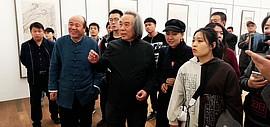 霍春阳观看孟庆占书画作品展 勉励孟庆占在艺术道路上奋力前行