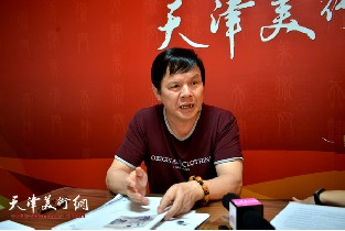 视频:著名画家李根友做客天津美术网