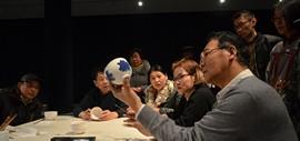 我和名家学画瓷-著名画家马寒松讲授陶瓷艺术受热捧
