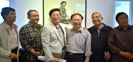 高清图:著名画家庞黎明水墨肖像画展暨作品研讨会举行