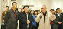 高清图:濠上观鱼―中华鱼文画书法绘画展在滨海新区开展