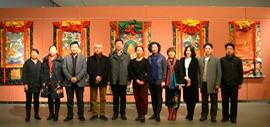 高清图:迎新春—书法、美术、唐卡名家联展慈善公益活动在天津美术馆举办