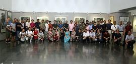 水墨问道-津门六家中国画作品展在天津图书馆开幕