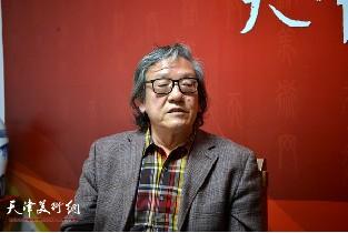 视频:著名雕塑家王家斌做客天津美术网