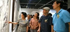 万花敢向雪中出——韩川野老蔡瑜中国画巡回展(天津)在天津美术馆开幕