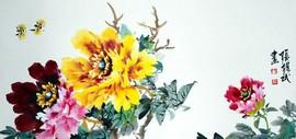 高清图:张锡武花鸟新作—名花倾国人相欢 明年开更胜今年