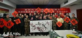 文艺轻骑兵,丹青颂人民——天津市美协艺术小分队走进军营