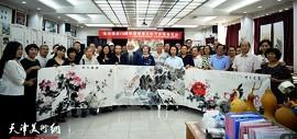 国庆前夕津门书画家来到国画之乡邓店村参加中国农民丰收节庆祝活动