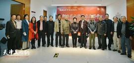 河西区文化艺术大讲堂-钱桂芳山水画教学成果展在河西区文化中心开幕