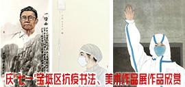 """庆""""七一""""宝坻区抗疫书法、美术作品展作品欣赏"""