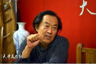 视频:著名书法家王全聚做客天津美术网
