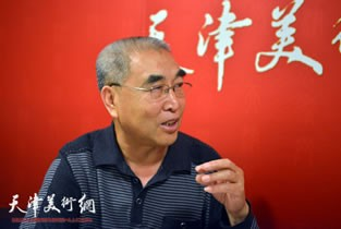 视频:著名画家王绍棠做客天津美术网