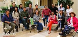 庆祝中华人民共和国成立70周年城市印象艺术巡展在天津利顺德维多利亚花园举行