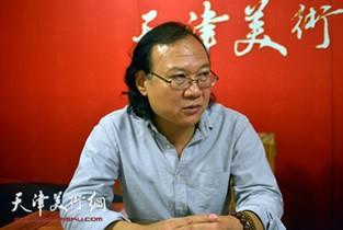 视频:著名画家庞雨做客天津美术网