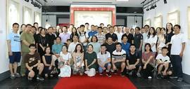 文新秀古-天津美术学院贾广健硕士研究生师生作品展在天津市周口商会开幕
