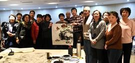 著名画家陈元龙在河西文化中心举行书画公益讲座